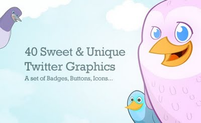 40 cute free twitter icons