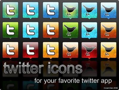 Twitter icons by jossotdesign