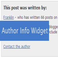author widget for blogger