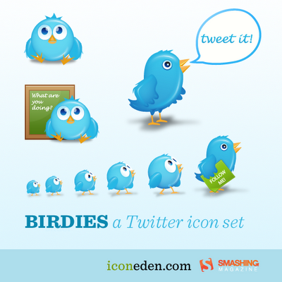 birdies cute twitter icons