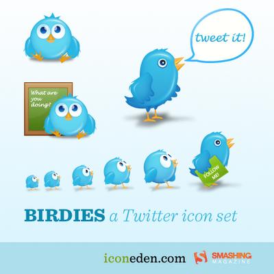 birdies cute twitter icons
