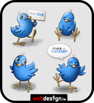Twitter icons by webdesing fm