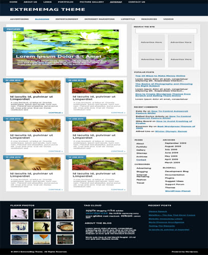 extreme mag wordpress theme