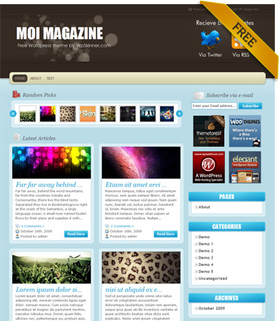 Moi free premium wordpress themes