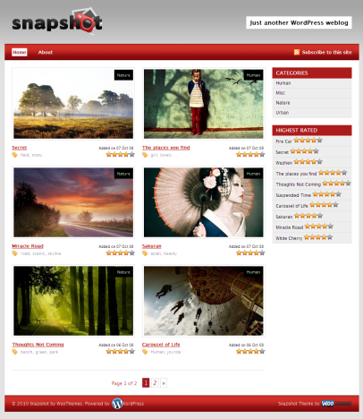 Snapshot free premium wordpress theme