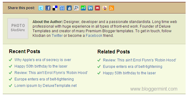 Daily Edition, A Premium Blogger Template