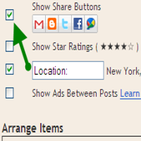 blogger introduced share button