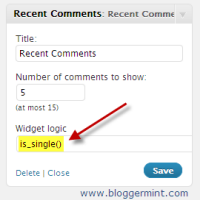 widget logic wordpress plugin