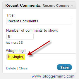 widget logic plugin for wordpress