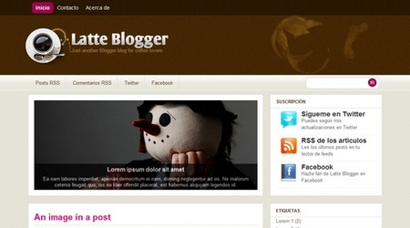 Latte-Blogger template