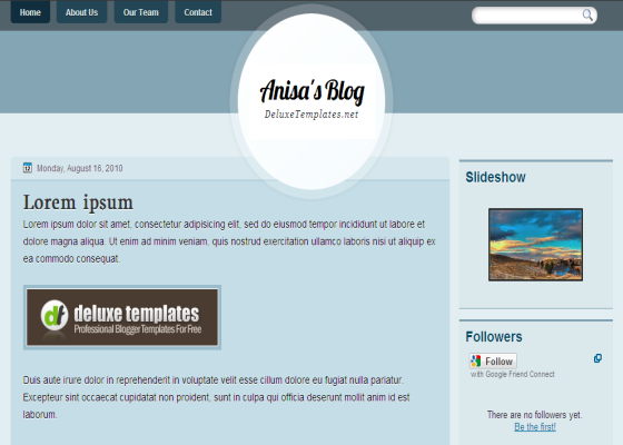 anisa blogger template
