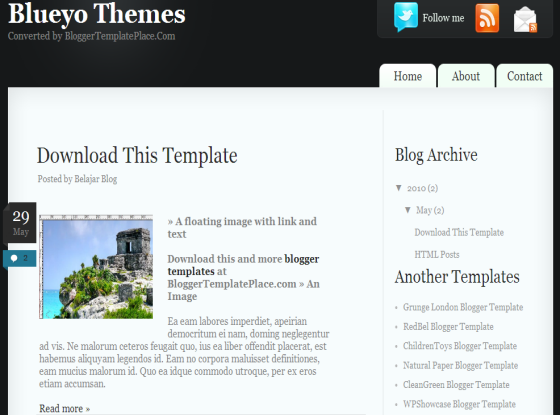 blueyo blogger template