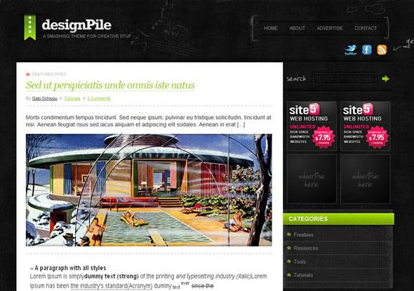 designpile blogger template