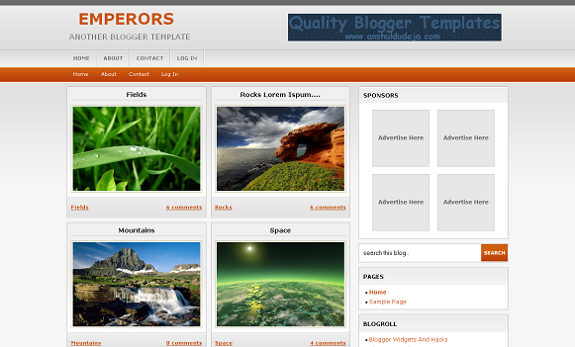 emperors blogger template