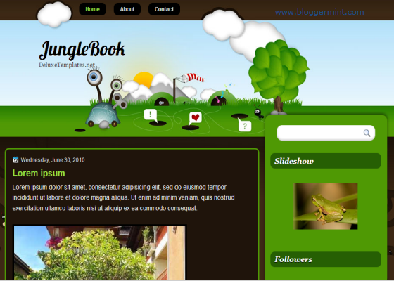 jungle book blogger template