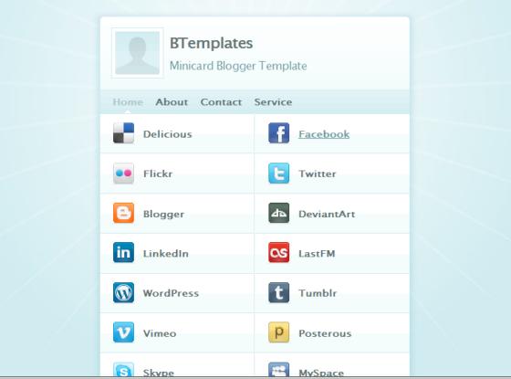 minicard blogger template