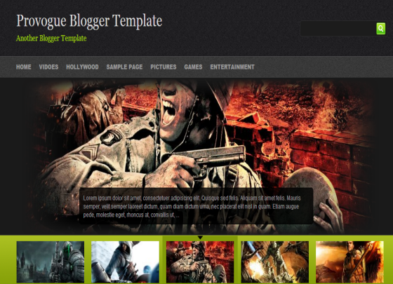 provogue blogger template