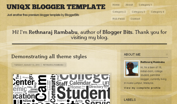 uniqx blogger template
