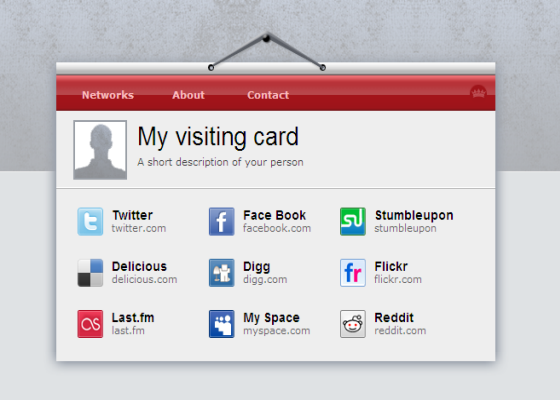 visting card blogger template