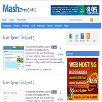 mash blogger template