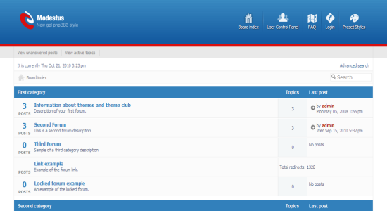10 free phpbb3 stylesthemes thats worth of giving a try modestus phpbb3 theme maxwellsz