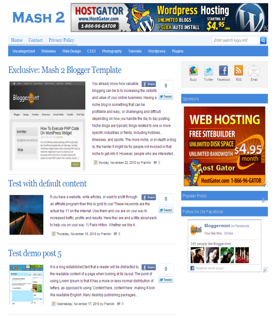 mash 2 (mashable inspired) blogger template