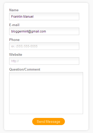 html5 contact form