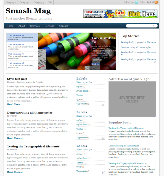 smash mag blogger template