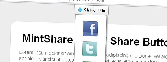 MintShare Classic Social Share Button