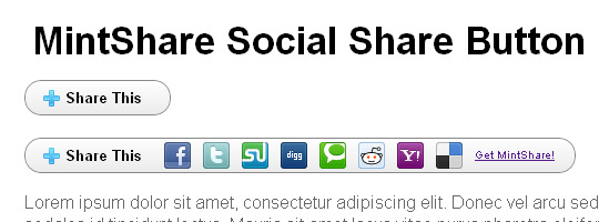 MintShare Mini Social Share Button