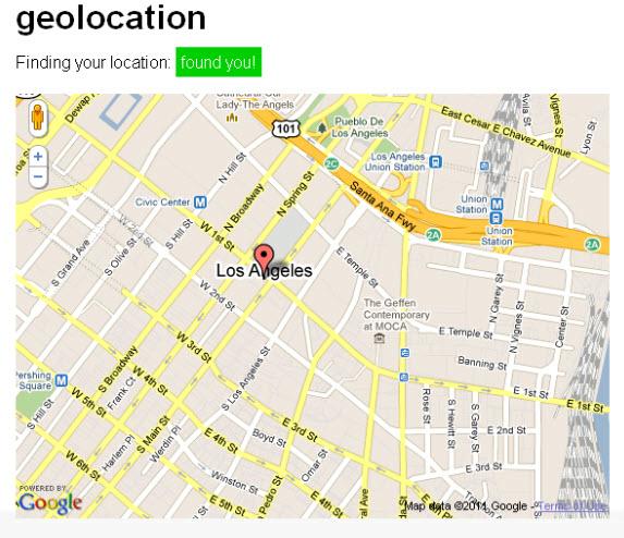 detect geo location using HTML5