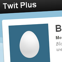 twit-plus blogger template