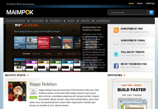 Maimpok wordpress theme