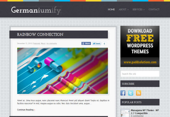 Germaniumify wordpress theme