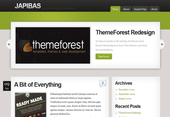 japibas wordpress theme
