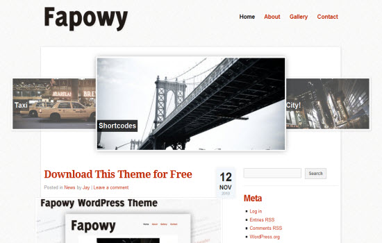 Fapowy wordpress theme
