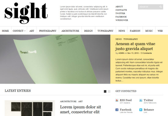 sight 1.01 wordpress theme