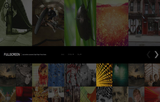 fullscreen wordpress theme