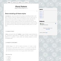 floral pattern blogger template
