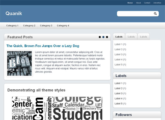 Quanik blogger template for Blogger templates free download 2012