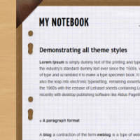 my notebook blogger template