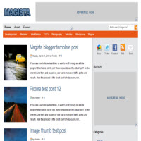 magista blogger template