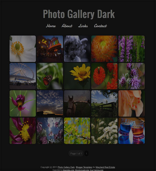 Photo Gallery Dark Template