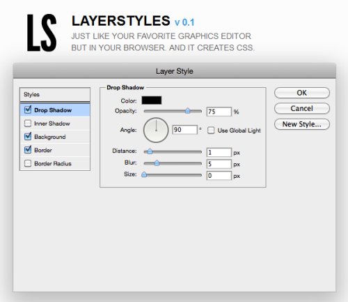 Layer Styles: A Web Based Photoshop Look Alike CSS3 Generator