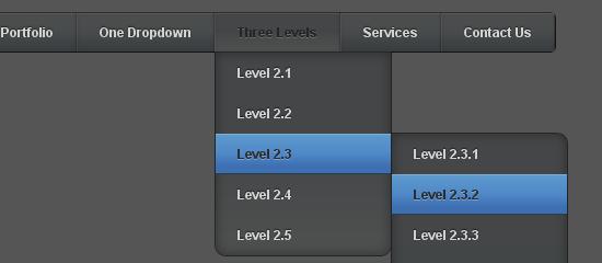 Pure CSS3 Multi Level Drop Down Navigation Menu