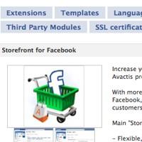 storefront for Facebook
