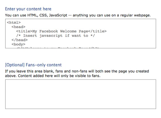 Facebook fan page iframe tabs
