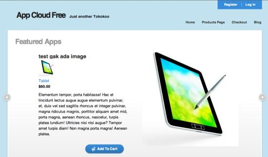 app cloud wordpress ecommerce theme