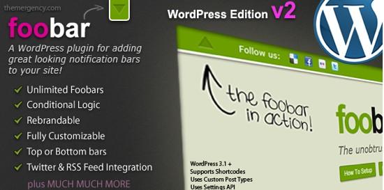 footbar wordpress notification plugin