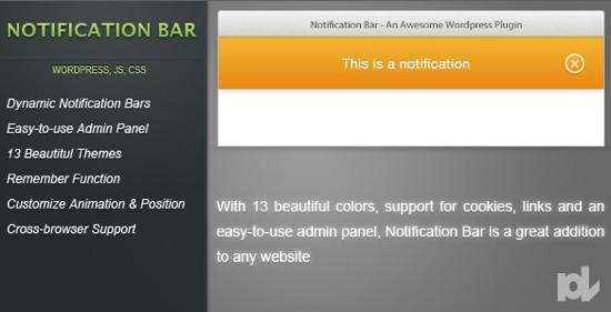 notificationbar WordPress plugin